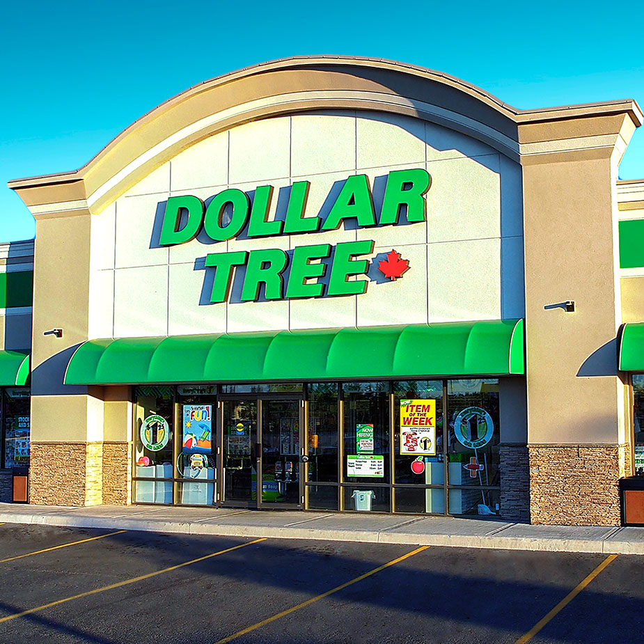 Dollar Tree Canada Store storefront. Your local health & beauty products in Barrie, Ontario